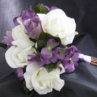Flowers & Decor, white, purple, Flowers