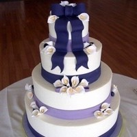 Flowers & Decor, Cakes, white, purple, blue, cake, Flowers