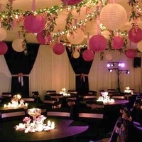 Reception, Flowers & Decor, Paper, white, pink, Lanterns, Inspiration board, Decoration