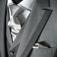 Fashion, Men, Men's Formal Wear, Grey, Suit