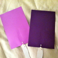 Ceremony, Flowers & Decor, purple, Program, Fans