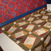 Reception, Flowers & Decor, brown, Guestbook, Quilt