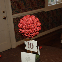 Reception, Flowers & Decor, brown, Centerpieces, Centerpiece, Origami