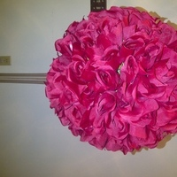 Flowers & Decor, pink, Flowers, Rose, Pomander, Silk