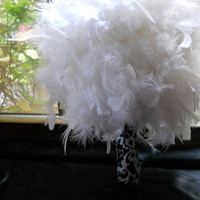 Beauty, DIY, Flowers & Decor, white, Feathers, Bride Bouquets, Flowers, Bouquet, My, Feather