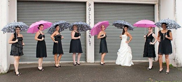 Flowers & Decor, Bridesmaids, Bridesmaids Dresses, Wedding Dresses, Fashion, white, pink, black, dress, Bridesmaid Bouquets, Flowers, Flower Wedding Dresses