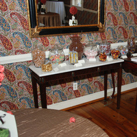 Reception, brown, Favors, Candy, Buffet, Favors & Gifts, Flowers & Decor