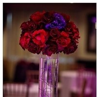Reception, Flowers & Decor, red, purple, black, Inspiration board