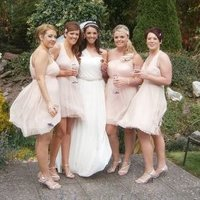 Beauty, Jewelry, Bridesmaids, Bridesmaids Dresses, Wedding Dresses, Shoes, Fashion, pink, dress, Makeup, Hair