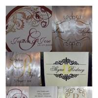 Ceremony, Flowers & Decor, Monogram, Wedding, Custom, Aisle, Personalized, Runner