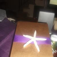 Stationery, purple, gold, Invitations, Starfish, Box, Invites