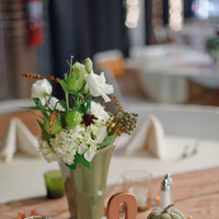 Reception, Flowers & Decor, green, brown, gold, Table, Number