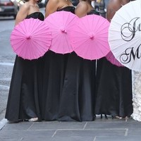 Ceremony, Flowers & Decor, Wedding, Hand, Photo, Parasol, Married, You, Thank, Just, Painted, Prop
