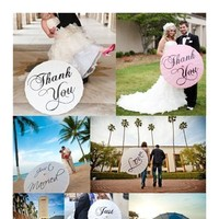 Ceremony, Flowers & Decor, Monogram, Wedding, Umbrella, Parasol, Married, You, Thank, Just