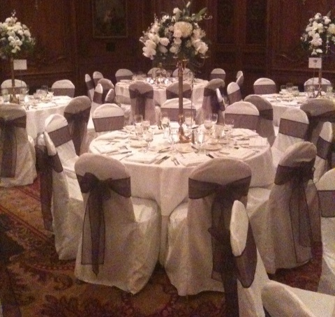 Reception, Flowers & Decor, white, brown, Table, Chair, Cover, Banquet, Linens
