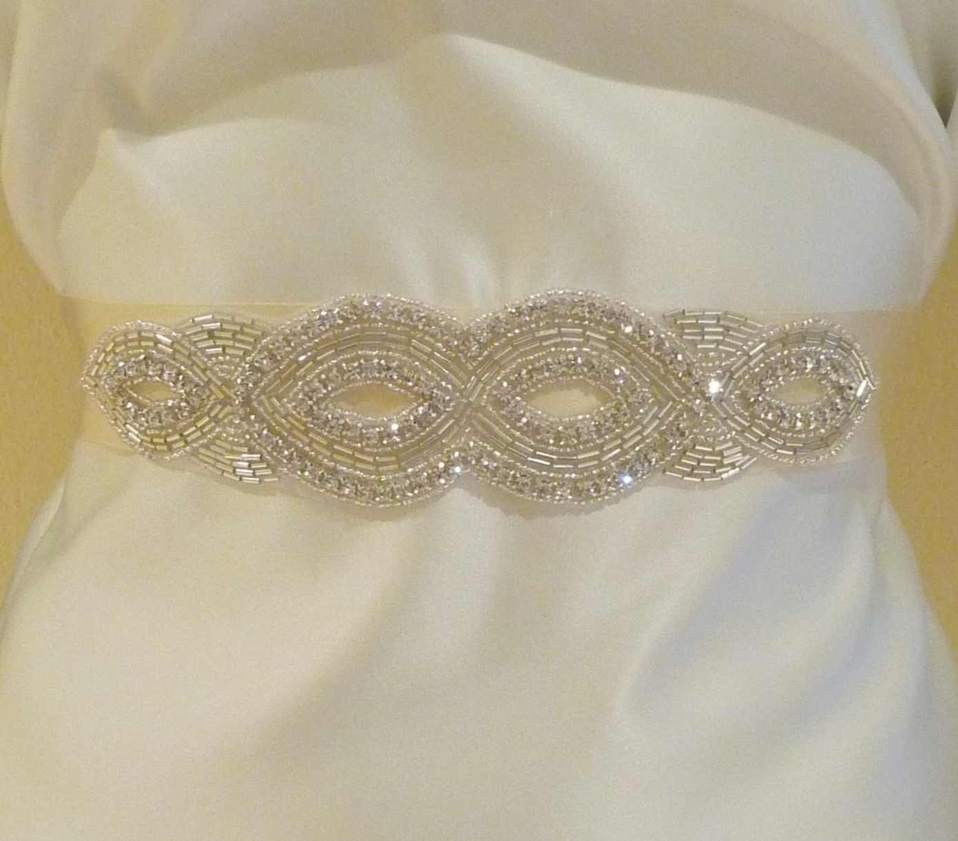 Jewelry, Bridesmaids, Bridesmaids Dresses, Wedding Dresses, Fashion, white, ivory, silver, dress, Wedding, Bridal, Sash, Satin, Rhinestone, Handmade, satin wedding dresses