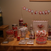 Reception, Flowers & Decor, Favors & Gifts, white, red, silver, Favors, Inspiration board, Candy buffet table