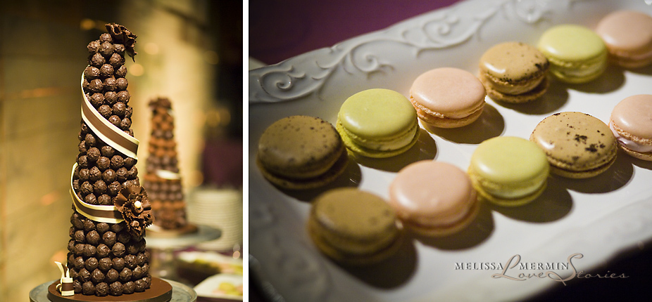 Reception, Flowers & Decor, Cakes, cake, Chocolate, European, Macarons, Dessers