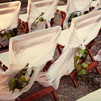 Ceremony, Reception, Flowers & Decor, ivory, Outdoor, Romantic, Chair, Cover, Chiffon