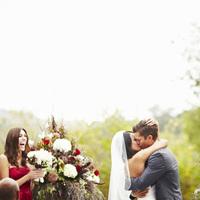 Ceremony, Flowers & Decor, Bride, Groom, Kiss, Love, Cami erik