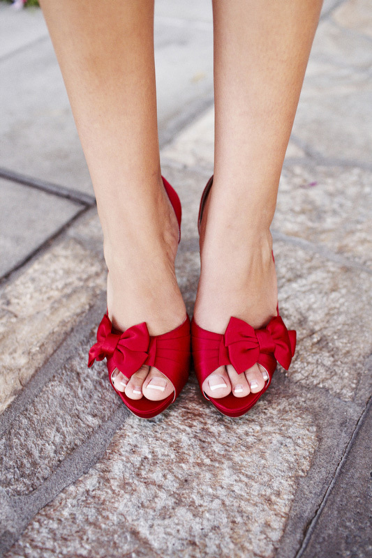 red, Heels, Bows, Peep-toe, Cami erik