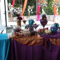 yellow, orange, pink, red, purple, blue, green, gold, Candy, Buffet, Stations, Temecula