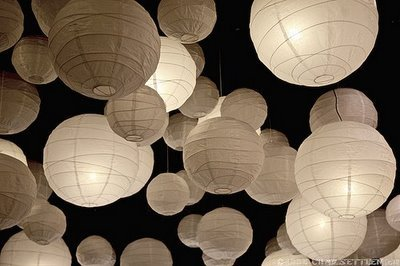 Reception, Flowers & Decor, Paper, white, Lanterns