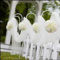 Ceremony, Flowers & Decor, white, Tulle, Aisle