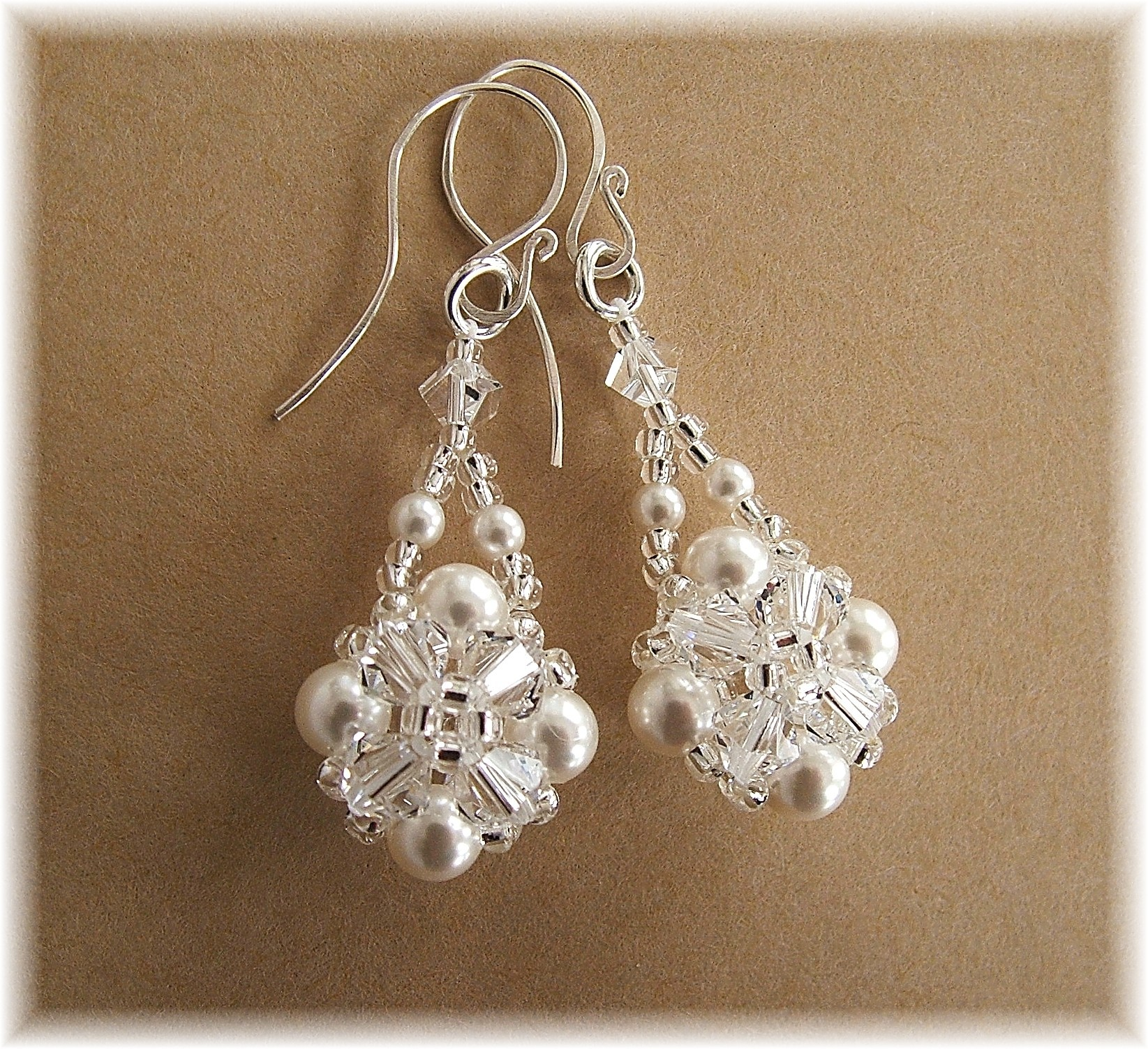 Jewelry, white, Earrings, Bride, Accessories, Gown, Wedding, Custom, Bridesmaid, Bridal, Crystal, Pearl, Beaded, Cluster