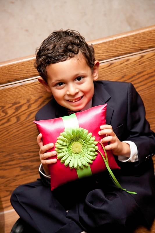 Ceremony, Flowers & Decor, pink, green, Ring, Bearer
