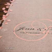 Ceremony, Flowers & Decor, pink, black, Custom, Aisle, Personalized, Runner