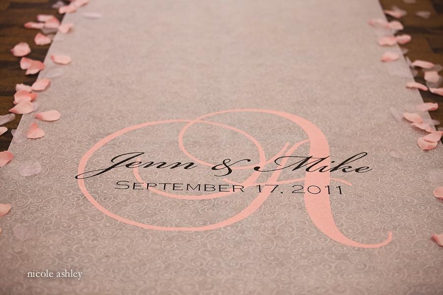 Ceremony, Flowers & Decor, pink, black, Custom, Aisle, Personalized, Runner