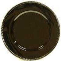Reception, Flowers & Decor, Registry, black, Place Settings, Rope, Charger, Plate, Edge