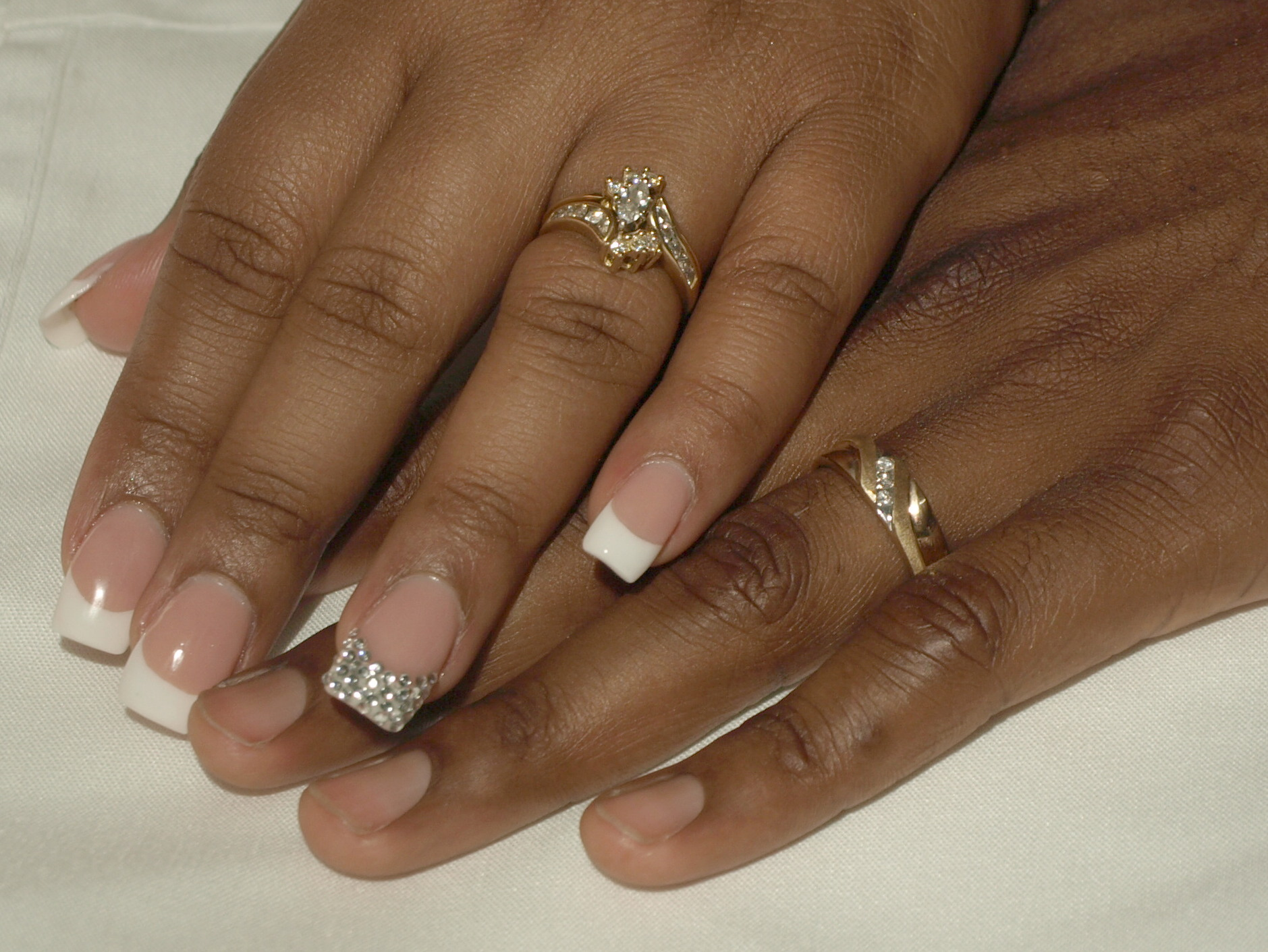 Rings, And, Nails, Bling