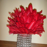 Reception, Flowers & Decor, red, silver, Vintage, Candle, Crystal, Chandelier, Rhinestone, Hollywood, Bling, 1940s, Deco, Lamp, Led