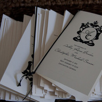 Ceremony, Flowers & Decor, white, black, Programs, Dan klutz photography