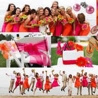 orange, pink, Inspiration board