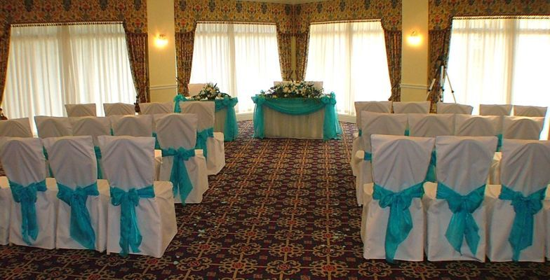 Ceremony, Reception, Flowers & Decor, white, blue