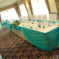 Reception, Flowers & Decor, white, blue