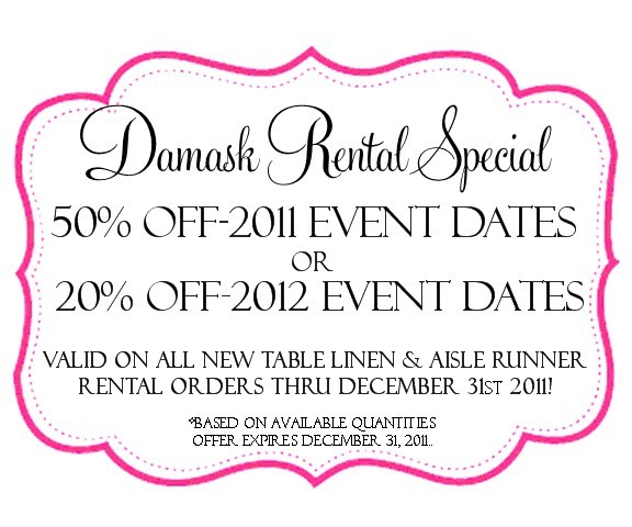 Ceremony, Reception, Flowers & Decor, white, black, Square, Table, And, Rental, Aisle, Runner, Damask, Rent