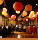 Reception, Flowers & Decor, orange, Lanterns