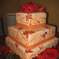 Cakes, orange, red, cake