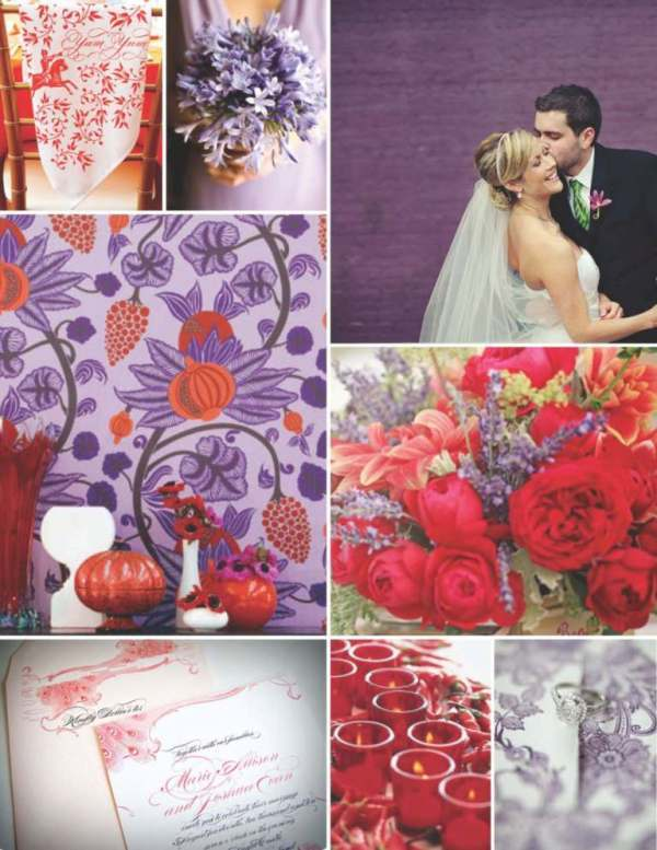 red, purple, Inspiration board