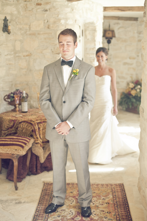 Wedding Dresses, Fashion, dress, Men's Formal Wear, Bride, Groom, Grey, Suit, First look, Erin alan