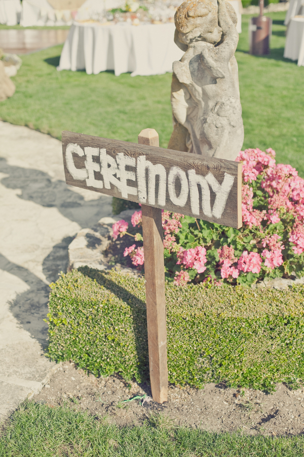 Ceremony, Flowers & Decor, Ceremony Flowers, Flowers, Hand, Signs, Guide, Painted, Erin alan