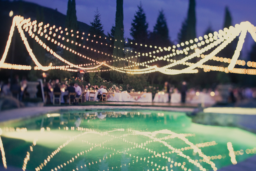 Reception, Flowers & Decor, Pool, Lights, Italian, Reflection, Erin alan