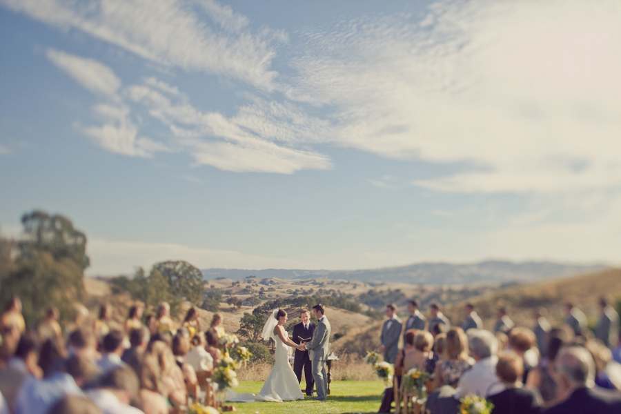 Ceremony, Flowers & Decor, yellow, View, Sun, Clouds, Erin alan