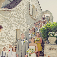 yellow, Bride, Groom, Party, Grey, Bridal, Architecture, Erin alan