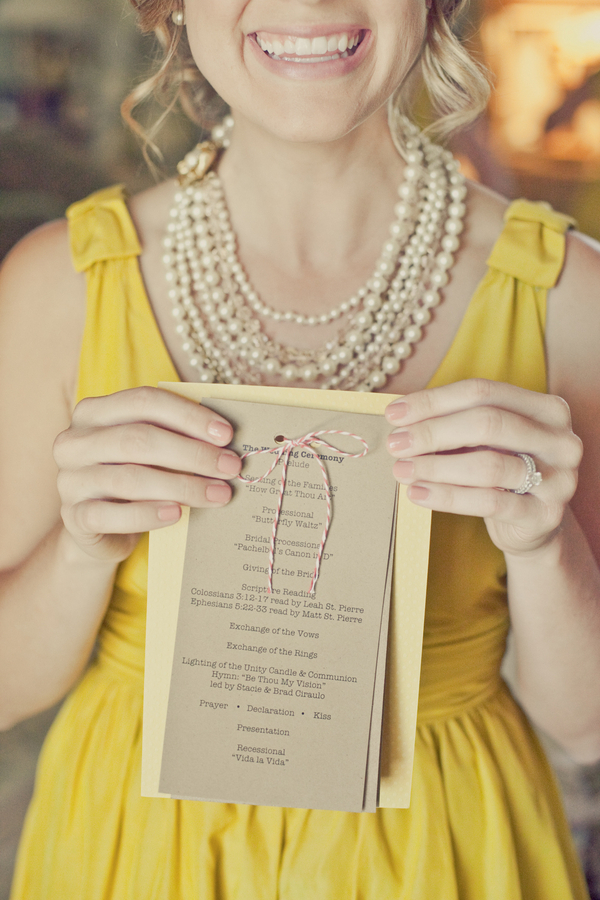 Stationery, Paper, white, yellow, red, invitation, Invitations, Ceremony Programs, Bridesmaid, Program, Goods, Erin alan