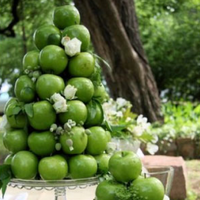 Reception, Flowers & Decor, green, Apples